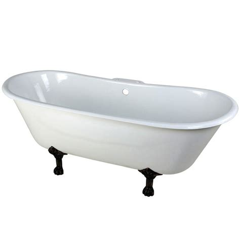7 Ft Bathtub by Aqua 5 6 Ft Cast Iron Rubbed Bronze Claw Foot Slipper Tub With 7 In Deck Holes
