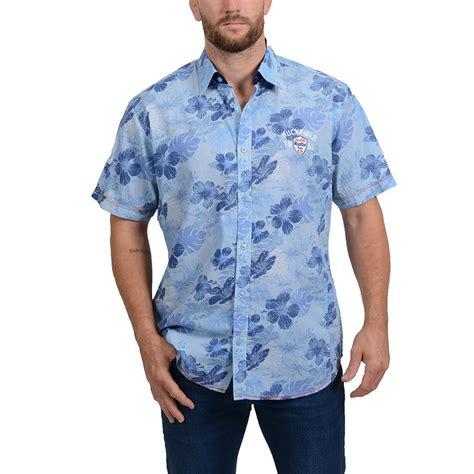 Blue Flower T Shirt ruckfield blue flower print shirt