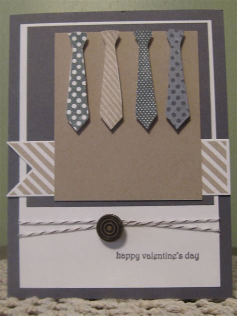 Handmade Masculine Birthday Cards - stin up handmade greeting card masculine valentines day