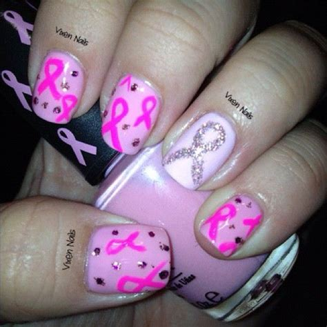 Thursday Three Breast Cancer Vixens by Breast Cancer Aawreness Nail Photo By Vixen Nails