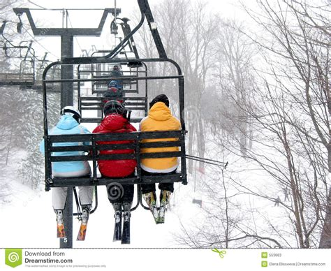 Are Chair Lifts Safe by Skiers On Chairlift Stock Image Image Of Chair Sport