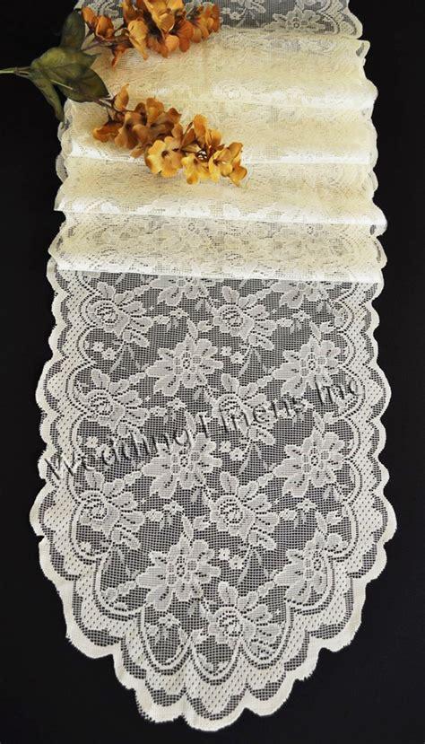 ivory lace table runner ivory lace table runners wedding