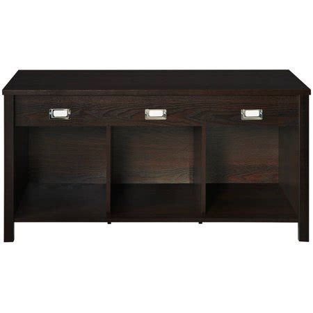 closetmaid premium 3 cube bench organizer black walnut