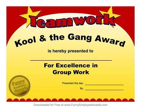 templates for office awards 25 best funny employee awards images on pinterest