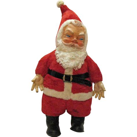 vintage large older santa claus doll 1950s very good