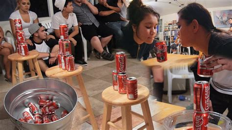 fun den ideas for kids and adults 5 fun party games with soda cans diy minute to win it