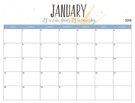 printable calendar by month free printable 2018 monthly calendar calendar 2018