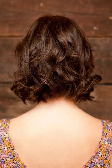 back view wavy short bob for thick hair 2015 short layered haircuts thick wavy hair hairstyles for