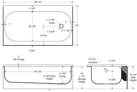 dimensions of standard bathtub standard size of bathtub crowdbuild for