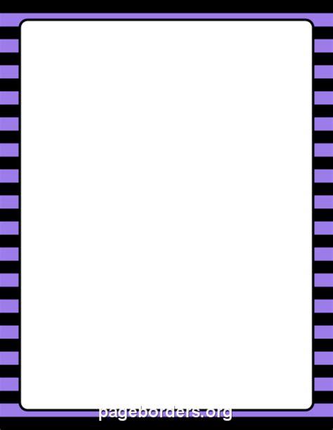 purple  black striped border clip art page border