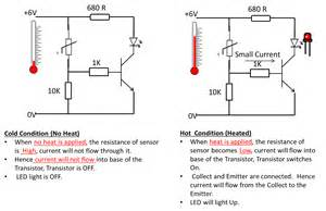 how thermistor works in a circuit electronics
