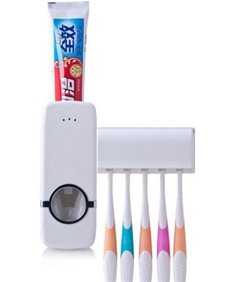 automatic toothpaste dispenser with 5 toothbrush holder