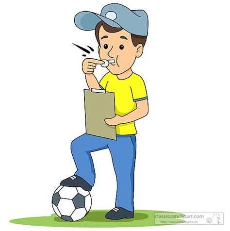 soccer couch soccer clipart soccer coach with foot on soccer ball