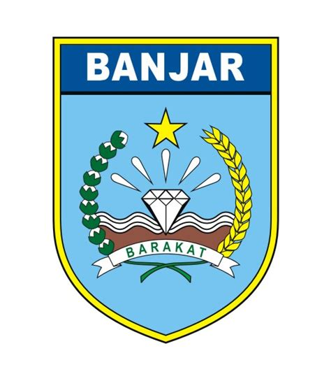 Berlian Banjar 0 4 Ct logovectorcdr logo kabupaten banjar