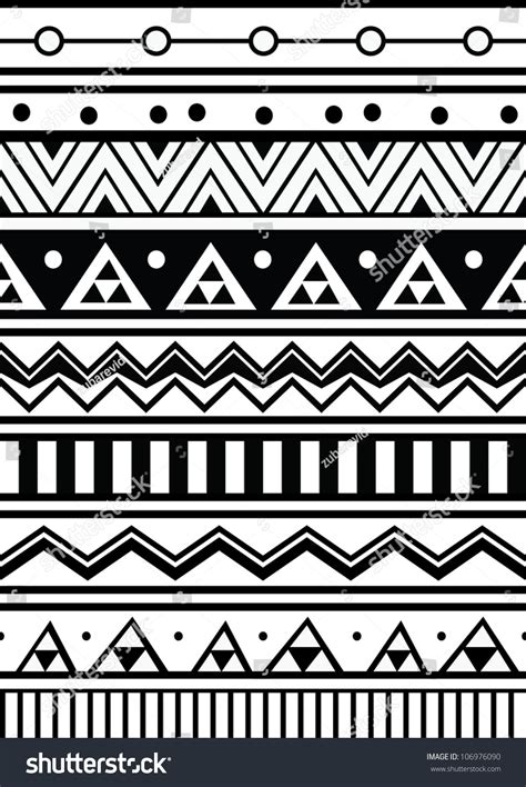 abstract aztec pattern abstract geometric seamless pattern aztec style stock