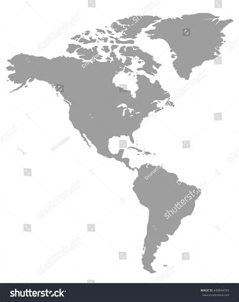 america map gray grey america map america map blank stock illustration