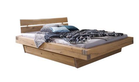 lit 1 place adulte lit adulte avec tiroir en chene naturel kara mobilier en