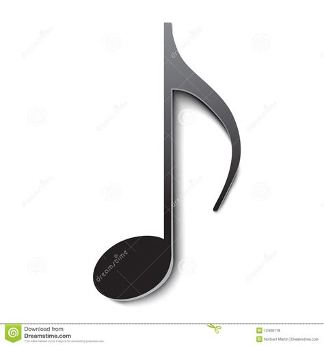 nota musicale di vettore immagini stock libere da diritti