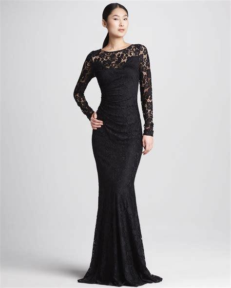 uzun kollu pullu dantel elbise siyah uzun elbise byk beden dantel detaylı siyah uzun kollu abiye modelleri
