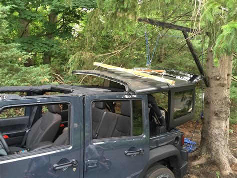 Jeep Top Lift Top Lift With No Garage Jeep Wrangler Forum