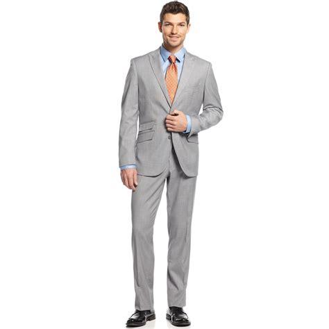 Mens Light Grey Slim Fit Suit Hardon Clothes