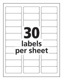 Avery 2 X 3 Label Template by Avery Easy Peel Clear 1 X 2 5 8 Inch Address Labels 750