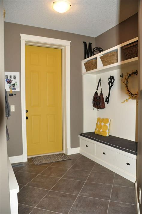 painted yellow door would be so cool at the end of my timber and lace house tour new