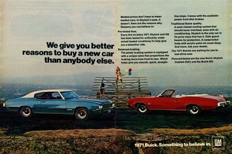 buick advertising 1971 buick advertisement photo picture