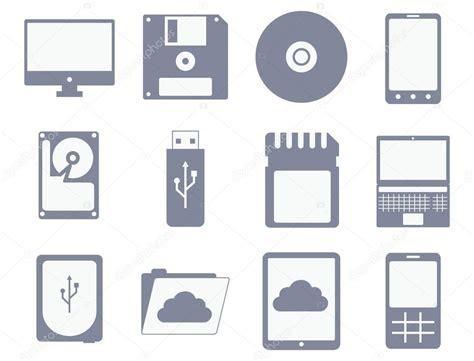 imagenes vectoriales informatica vector icono conjunto de dispositivos de medios