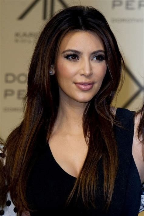 hairstyles for long hair kim kardashian kim kardashian sleek long hairstyle for straight hair