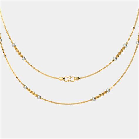 chain designs the aanvi gold chain bluestone