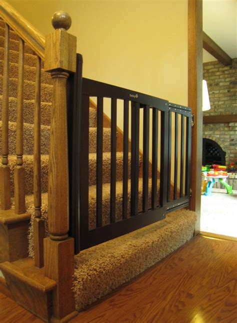 swinging baby gates for stairs baby gate banister neaucomic com