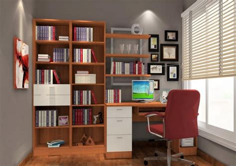 3d interior design warm study room 3d house