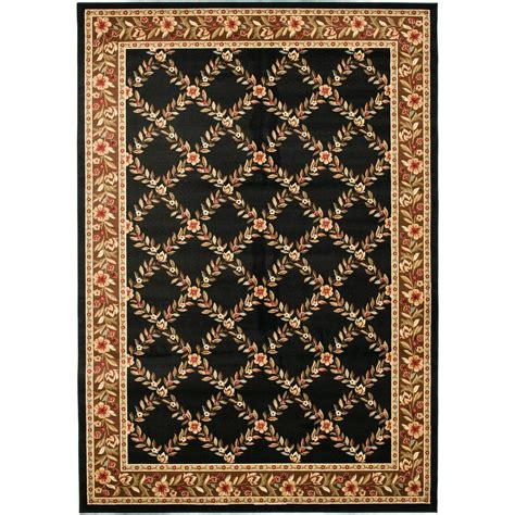area rug 8 x 12 safavieh lyndhurst black brown 8 ft 9 in x 12 ft area rug lnh557 9025 9 the home depot