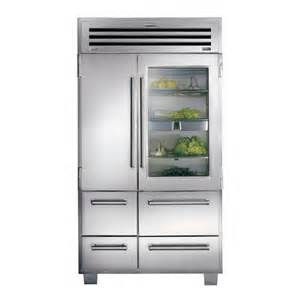 Sub Zero Refrigerator With Glass Door Sub Zero 648prog Pro 48 With Glass Door Refrigerator Freezer Stainless Steel Refrigerators