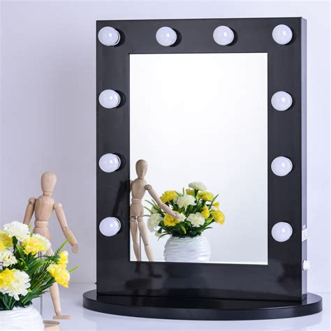makeup with lighted mirror black vanity lighted hollywood makeup mirror with dimmer