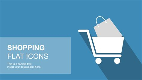 free ppt templates for e commerce flat shopping powerpoint icons slidemodel