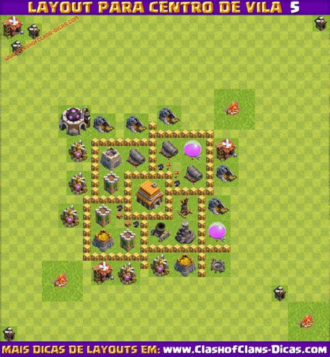 melhores layouts para centro de vila 5 clash of clans melhores layouts para centro de vila 5 clash of clans