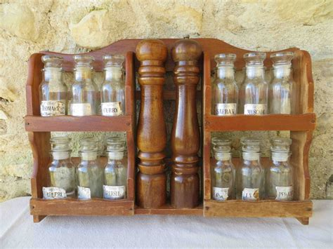 Large Wooden Spice Rack Wooden Spice Rack Including Large Salt And Pepper
