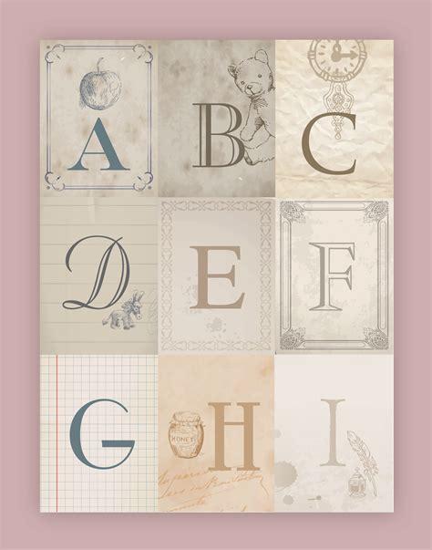 nursery alphabet wall art  printables   nest