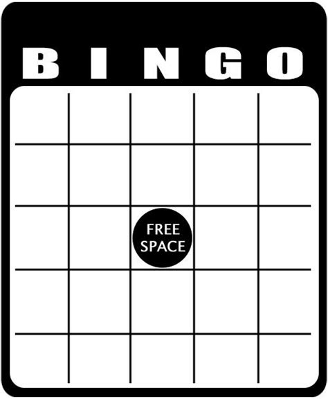 bingo template word paddle blank free printable clipart best