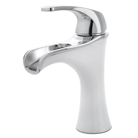 white bathroom faucet shop pfister jaida white polished chrome 1 handle 4 in