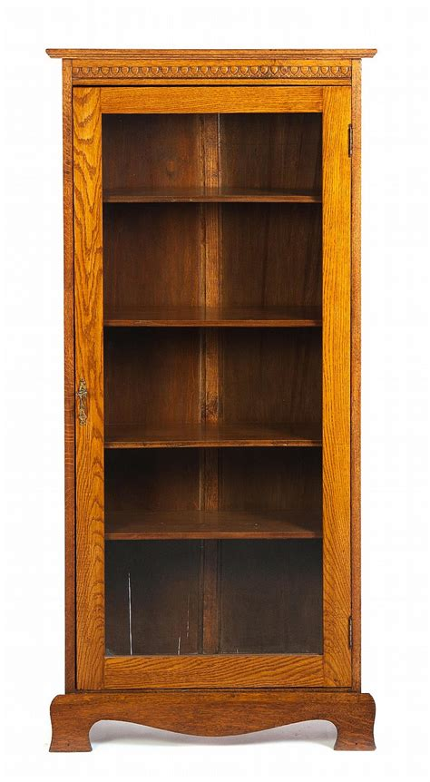 oak single door bookcase
