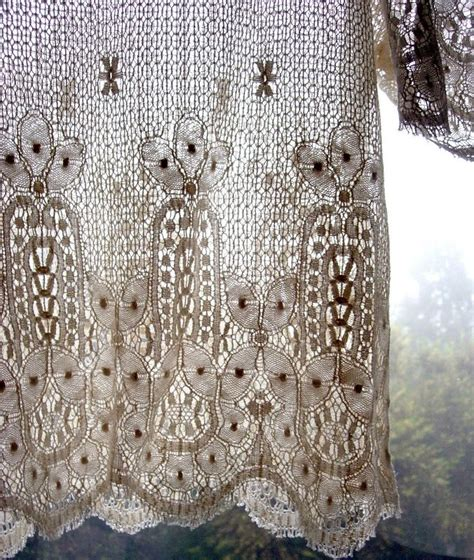 crochet lace curtain pattern 53 best images about crocheted window treatments on