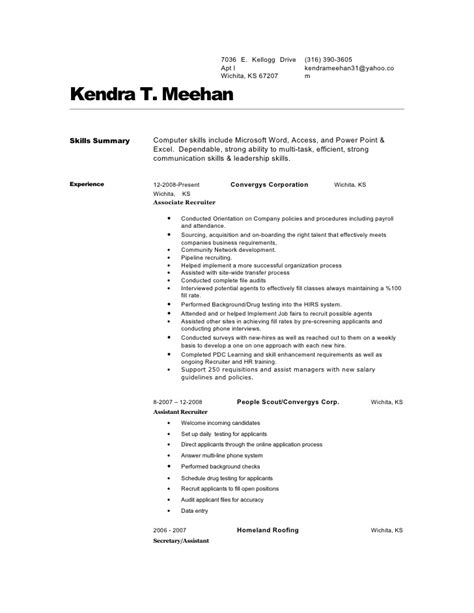 surgical tech resume sles kendra 20 meehan 20 resume 1