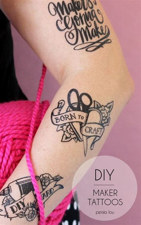 make your own temporary tattoos diy maker tattoos lou