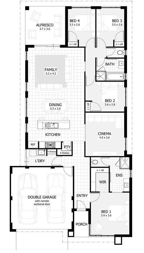 home design floor plans new home designs perth wa single storey house plans
