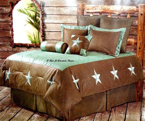 western bed sets western turquoise star cowboy comforter bedding set ebay