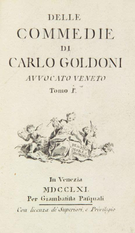libreria goldoni venezia orari goldoni carlo delle commedie tomo i xvii