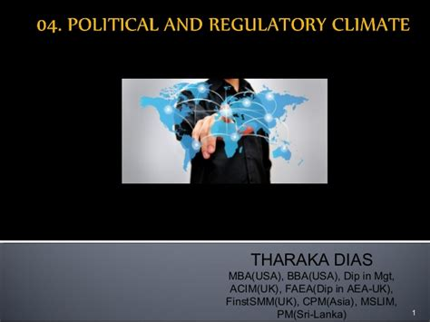 Dias Mba Syllabus by 04 Political And Regulatory Climate